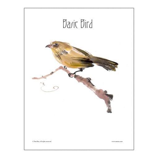 Basic Bird Brush Painting Lesson by Nan Rae
