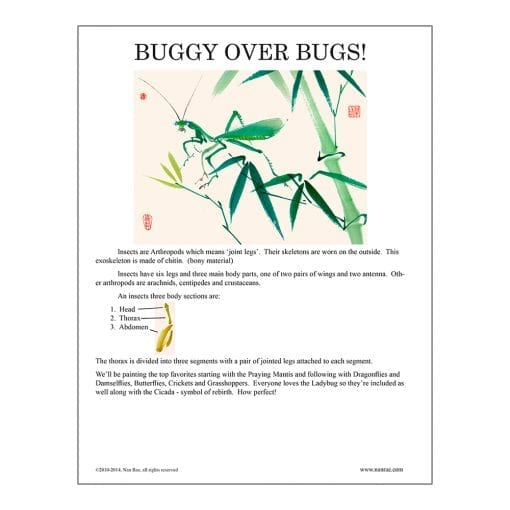 Bugs Brush Painting Lesson by Nan Rae