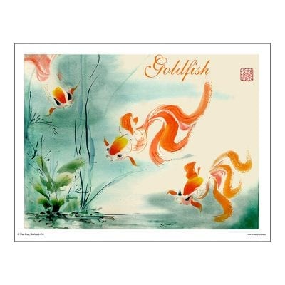 Goldfish Brush Painting Class Lesson by Nan Rae