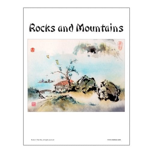 Rocks and Mountains Brush Painting Class Lesson by Nan Rae
