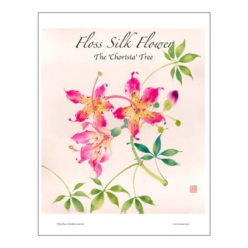 Silk Floss Flower Brush Painting Class Lesson by Nan Rae