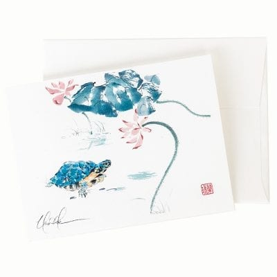 13-47 The Blue Turtle Card © Nan Rae