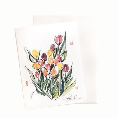 14-01 Joyful Bouquet Card © Nan Rae