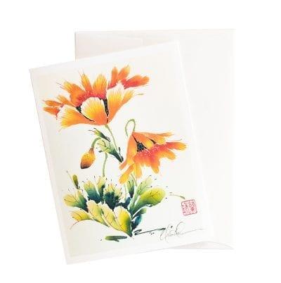 14-11 Orange Folic Card by Nan Rae