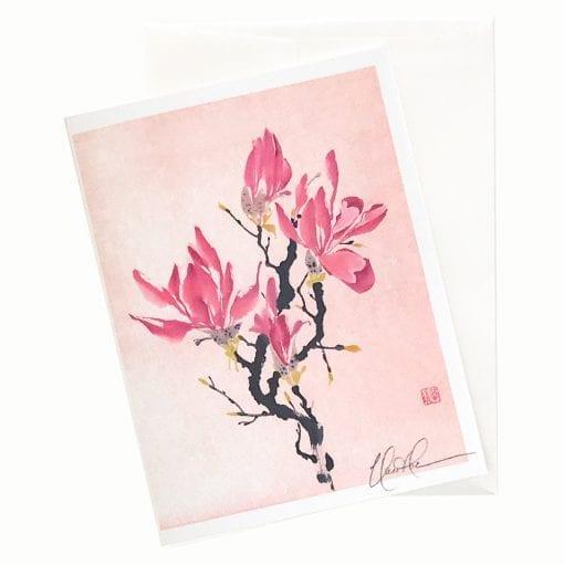 16-16 China in Pink Magnolia Card © Nan Rae