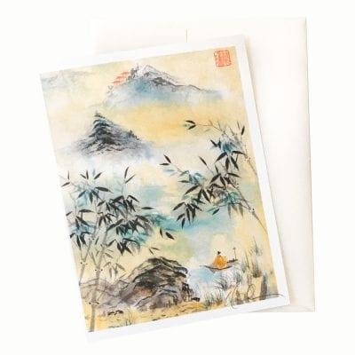 18-52 Having Visited Qi Bashi Card © Nan Rae