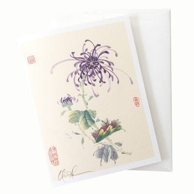 19-15 Spider Mum Card © Nan Rae