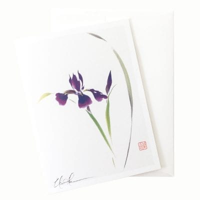 19-49 Japanese Iris Card © Nan Rae