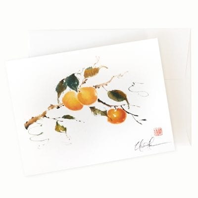 Peachy Peach Card by Nan Rae