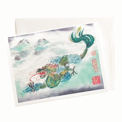 21-01 Dragon Sky Card © Nan Rae