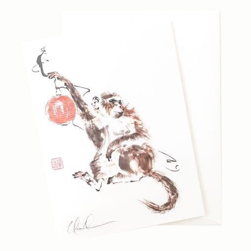 21-10 The Red Lantern Card © Nan Rae