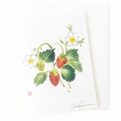21-56 Strawberry Fields Card © Nan Rae
