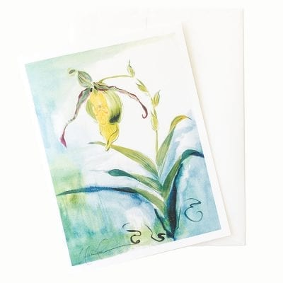 22-20 Lady Slipper Orchid II Card © Nan Rae
