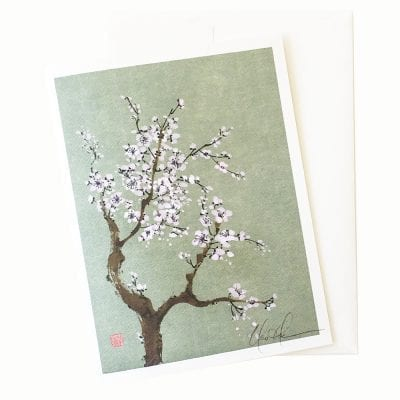 22-21 Blossoms in the Moonlight Card © Nan Rae