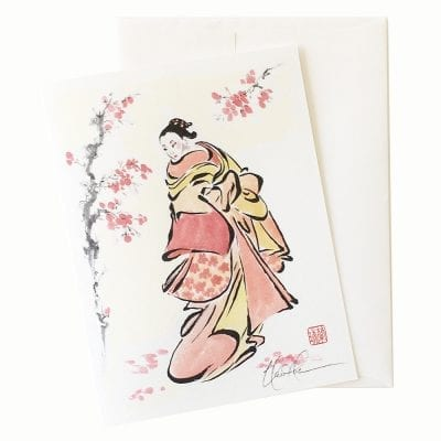 22-57 Cherry Blossom Courtesan Card © Nan Rae