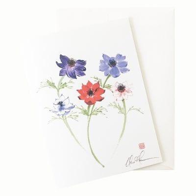 23-11 Anemone Minuet Card © Nan Rae