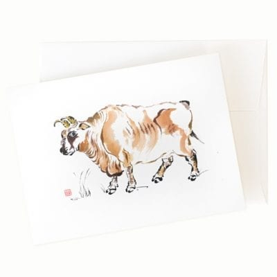 Year of the Ox greeting card