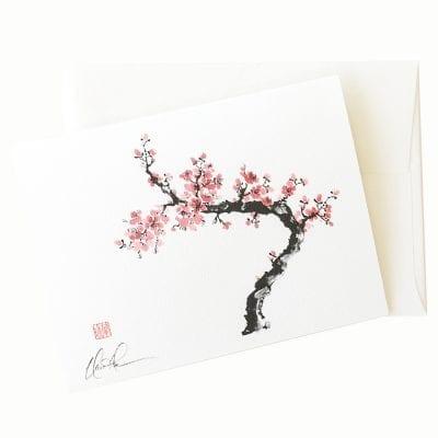 23-27 Spring Plum Card © Nan Rae