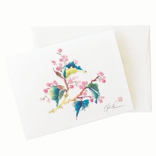 23-46 Branching Begonia Card ©Nan Rae