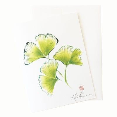 24-03 Ginkgo Spring Card © Nan Rae