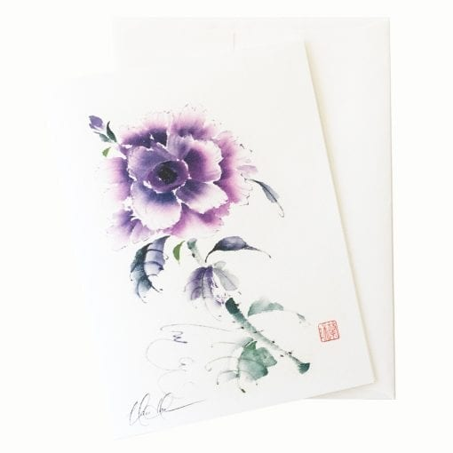 25-65 Violet Rose Card © Nan Rae