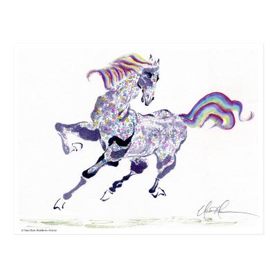 L2219 Rainbow Horse Print © Nan Rae