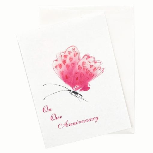 13-07A Butterfly of Love Anniversary Card by Nan Rae