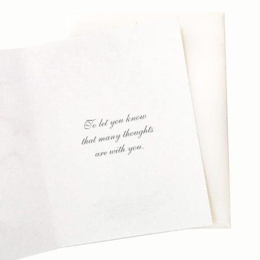15-41S Golden Moment Sympathy Card Inside Message