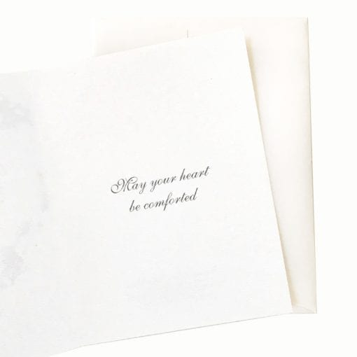 18-34S Moonlight Plum Sympathy Card Inside Message