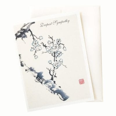 18-34S Moonlight Plum Sympathy Card by Nan Rae