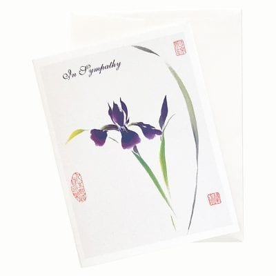 19-49S Japanese Iris Sympathy Card by Nan Rae