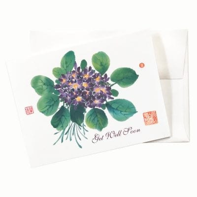 18-42Gw Forget Me Not Get Well Card by Nan Rae