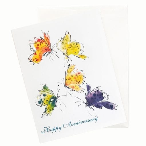 15-15A Spring Song Anniversary Card by Nan Rae
