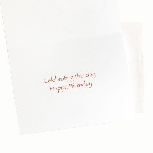 Rose of Love Birthday Card message