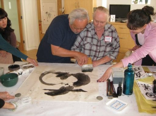 """Calligraphy Class with Master Shantien """"Tom"""" Chow"""