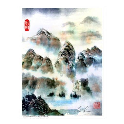 Harmony of Heaven and Earth print by Nan Rae