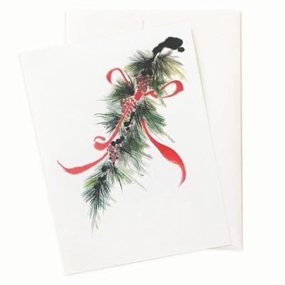Christmas Ribbon Card by Nan Rae