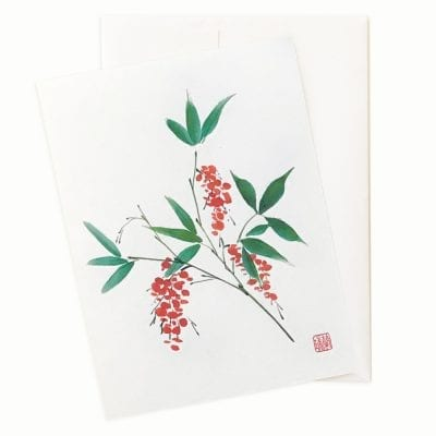 Nandina Holiday Card by Nan Rae