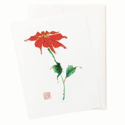 Pure Poinsettia Holiday Card by Nan Rae