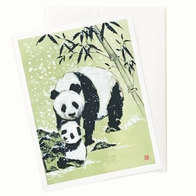 Snowballs (Panda) Card by Nan Rae