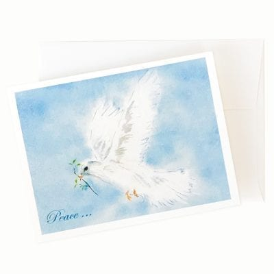 17-72x Dove of Peace Holiday Card by Nan Rae
