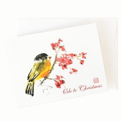 24-50x Ode to Christmas Holiday Card by Nan Rae