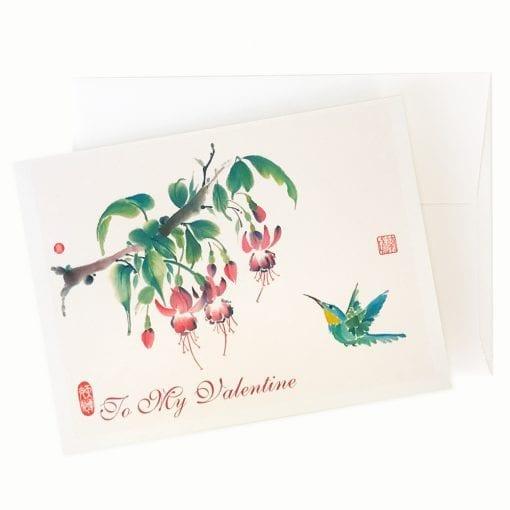 Fuchsia Valentines day Card by Nan Rae
