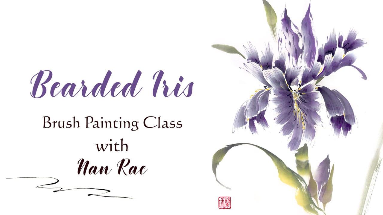 Bearded Iris Brush painting Class