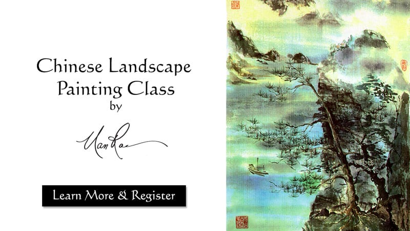 Chinese Landscape Online Painting Class by Nan Rae