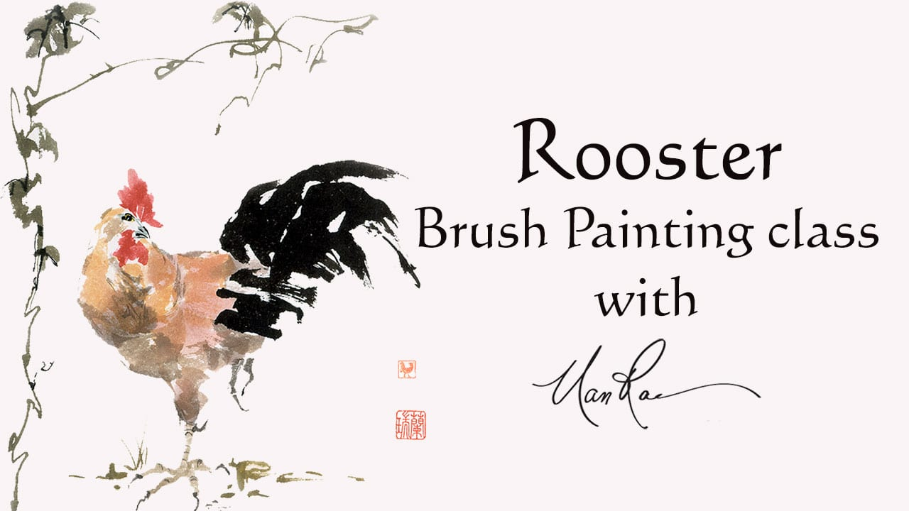 Plum Online Brush Painting Class