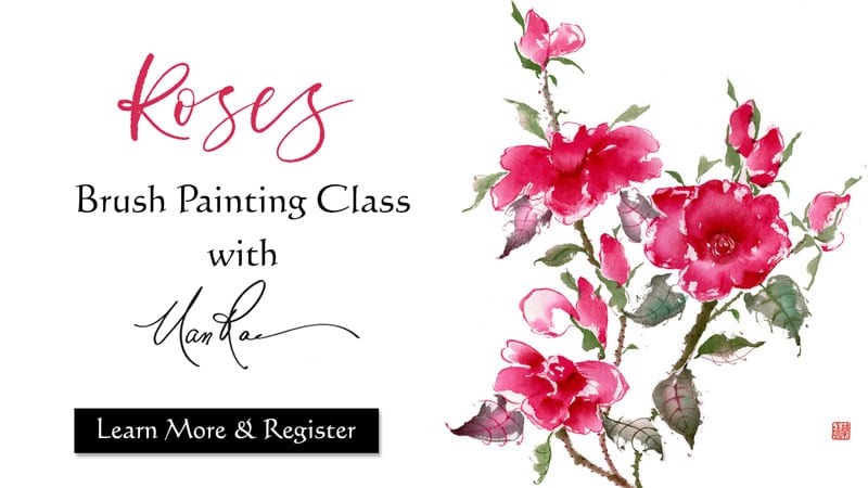 Roses Brush Painting Online Class by Nan Rae