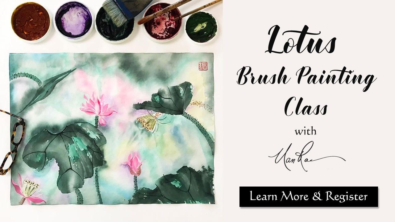Lotus Brush Painting Online Class